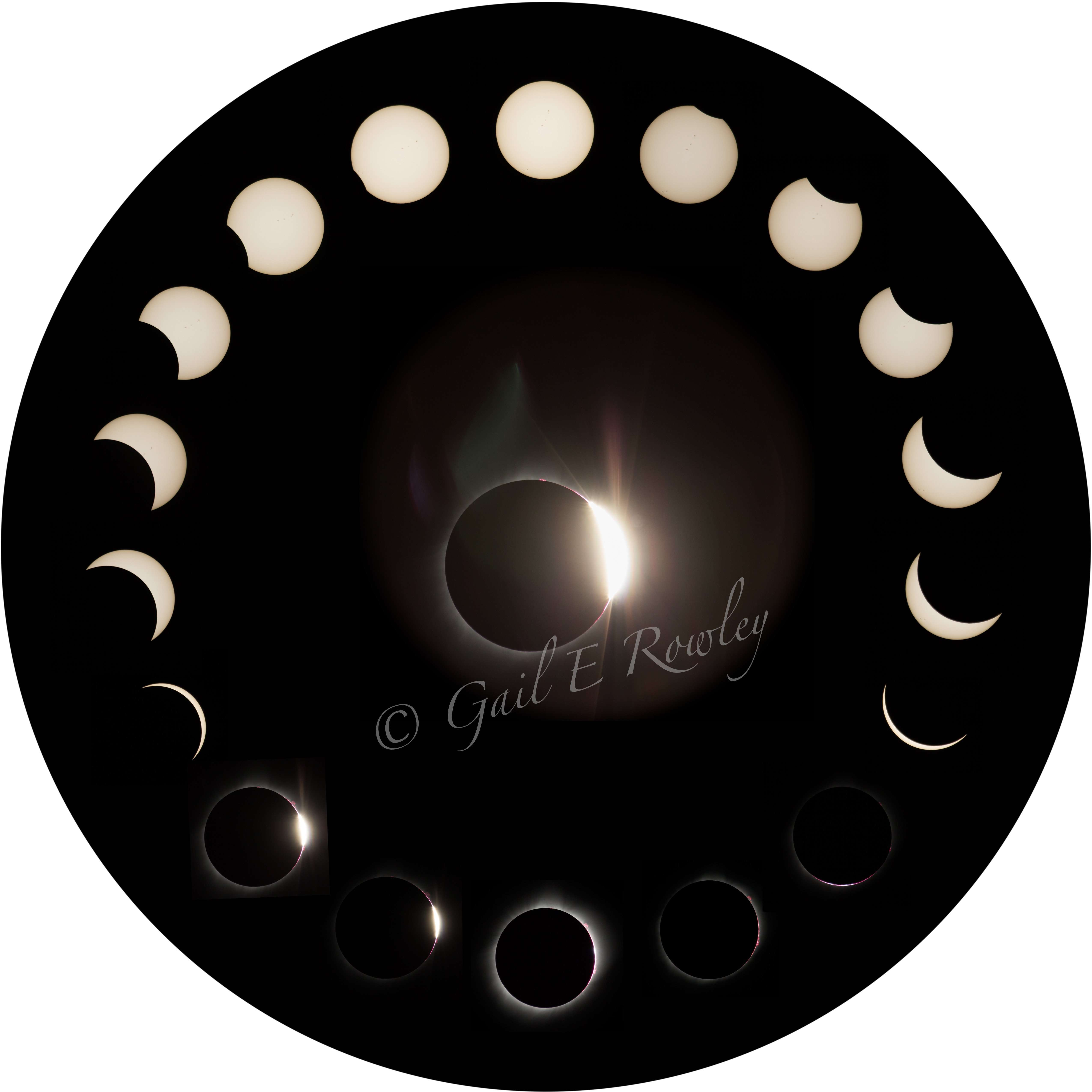 "Total Solar Eclipse 2017 ""Circle of Phases"" 8-21-2017"